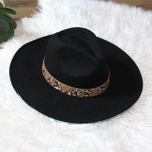 New Black Felt Boho hat